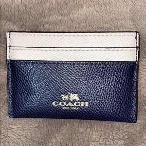 COACH Navy & White Credit Card Case